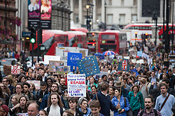 © Licensed to London News Pictures. 28/06/2016. London, UK. Thousands of anti-Brexit protesters march down Whitehall to protest against the result of the EU referendum last week. On Thursday 23 June, Britain voted to leave the European Union in a historic referendum. Photo credit: Rob Pinney/LNP