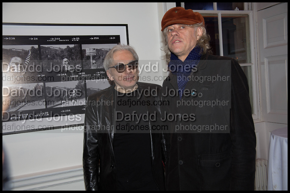 CHRIS STEIN; SIR BOB GELDOF; , Chris Stein / Negative: Me, Blondie, and The Advent of Chris Stein / Negative: Me, Blondie, and The Advent of Punk - private view, Somerset House, the Strand. London. 5 November 2014.