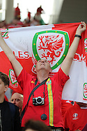 A Welsh fan can't hide his emotion at the final whistle after Wales win their first Euro 2016 match 2-1. Euro 2016, Wales v Slovakia at Matmut Atlantique , Nouveau Stade de Bordeaux  in Bordeaux, France on Saturday 11th June 2016, pic by  Andrew Orchard,