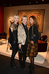 Left to right, ALLEGRA HICKS, LADY HELEN TAYLOR and SUSANNE KAPOOR at the PAD Art and Design Fair 2013 Collectors Preview in Berkeley Square, London on 14th October 2013.