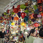 Light shades for sale at Cho Dong Ba, the main city market in Hue, Vietnam.
