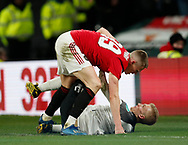 Scott McTominay of Manchester United goes after Louie Sibley of Derby County during the FA Cup match at the Pride Park Stadium, Derby. Picture date: 5th March 2020. Picture credit should read: Darren Staples/Sportimage