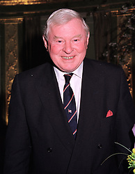 SIR DONALD GOSLING at a party in London on 19th April 1999.MRE 4