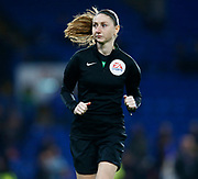 Linesmen Sian Louise Massey-Ellis during the English FA Cup fifth round soccer match between Chelsea and Liverpool at Stanford Bridge Stadium, Wednesday, March 3, 2020, in London, United Kingdom. (ESPA-Images/Image of Sport)