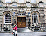 Entrance steps and doorway, The Guildhall, Bath