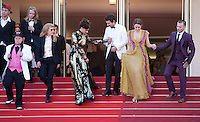 The cast at the gala screening for the film American Honey at the 69th Cannes Film Festival, Sunday 15th May 2016, Cannes, France. Photography: Doreen Kennedy
