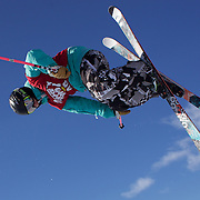 Geoff Straight, USA, in action in the Halfpipe Finals during The North Face Freeski Open at Snow Park, Wanaka, New Zealand, 3rd September 2011. Photo Tim Clayton...