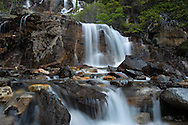 Tangle Falls on the Icefield Parkway, Jasper National Park, Alberta, Canada