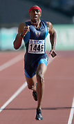 Tyree Washington of the United States wins second-round heat of the 400 meters 44.60 seconds in the IAAF World Championships in Athletics at Stade de France on Sunday, Aug, 24, 2003.