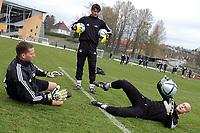 Fotball Tippeligaen Rosenborg trening 03.05.05<br /> <br /> Keepertrening med Ivar Rønninngen, Jørn Jamtfall og Frode Johnsen<br /> Foto: Carl-Erik Eriksson, Digitalsport