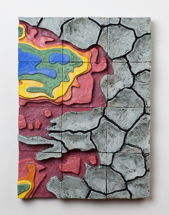 2016 July 22 - Ceramic artwork by Omaha artist Jess Benjamin.