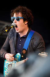Matthew Murphy of The Wombats on the main stage..Sunday, Rockness 2009..©2009 Michael Schofield. All Rights Reserved..