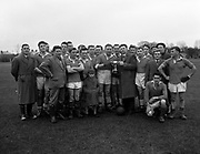 A football team win the cup in the 1950's..Picture by Harry MacMonagle