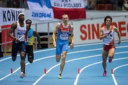 08.03.2014, Ergo Arena, Sopot, POL, IAAF, Leichtathletik Indoor WM, Sopot 2014, im Bild KENGO YAMAZAKI 4X400 m // KENGO YAMAZAKI 4X400 m during day two of IAAF World Indoor Championships Sopot 2014 at the Ergo Arena in Sopot, Poland on 2014/03/08. EXPA Pictures © 2014, PhotoCredit: EXPA/ Newspix/ Radoslaw Jozwiak<br /> <br /> *****ATTENTION - for AUT, SLO, CRO, SRB, BIH, MAZ, TUR, SUI, SWE only*****