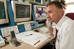 Prison officer on duty in the control room