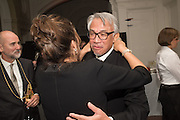 PRESIDENT RA: PRESIDENT RA: CHRISTOPHER LE BRUN; TRACEY EMIN; SIR DAVID TANG Dinner and a performance and film screening from Carnet de and Mike Figgis (who has created a film especially for the event)  to celebrate David Tang and to mark the start of construction of the RA's £50 million redevelopment project.  Royal Academy. Piccadilly. London. 26 October 2015.