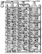 Babbage's 'difference machine'.   From Charles Babbage 'Passages from the Life of a Philosopher', London, 1864. Engraving