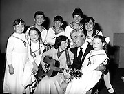 Dress rehearsal for the musical 'The Sound Of Music', performed by the Pioneer Musical and Dramatic Society at the SFX Hall in Dublin.<br /> 2 November 1983