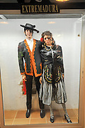 Display of traditional Spanish clothes from Extremadura