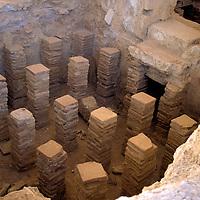 Europe, Cyprus, Mediterranean, Limassol. Ancient Roman baths at Kourion in Cyprus.