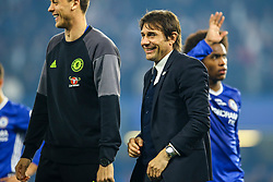 Chelsea manager Antonio Conte, Chelsea celebrate at the end of the match, final score Chelsea 4-3 Watford - Mandatory by-line: Jason Brown/JMP - 15/05/2017 - FOOTBALL - Stamford Bridge - London, England - Chelsea v Watford - Premier League