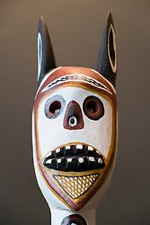 Aboriginal art by Nawurapu Wunungmurra at Gallery of Modern Art or GoMA on Southbank in Brisbane Queensland Australia