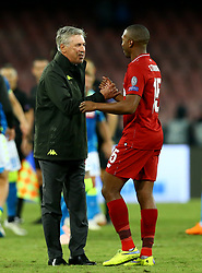 October 3, 2018 - Naples, Italy - SSC Napoli v FC Liverpool - UEFA Champions League Group C.Napoli trainer Carlo Ancellotti and Daniel Sturridge of Liverpool at San Paolo Stadium in Naples, Italy on October 3, 2018. (Credit Image: © Matteo Ciambelli/NurPhoto/ZUMA Press)