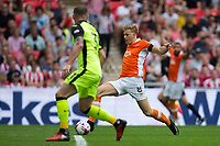 Blackpool's Brad Potts in action in the lead up to the second goal<br /> <br /> Photographer Craig Mercer/CameraSport<br /> <br /> The EFL Sky Bet League Two Play-Off Final - Blackpool v Exeter City - Sunday May 28th 2017 - Wembley Stadium - London<br /> <br /> World Copyright © 2017 CameraSport. All rights reserved. 43 Linden Ave. Countesthorpe. Leicester. England. LE8 5PG - Tel: +44 (0) 116 277 4147 - admin@camerasport.com - www.camerasport.com