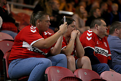 Middlesbrough fans watch nervously