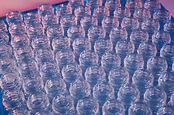 Tray of open vials