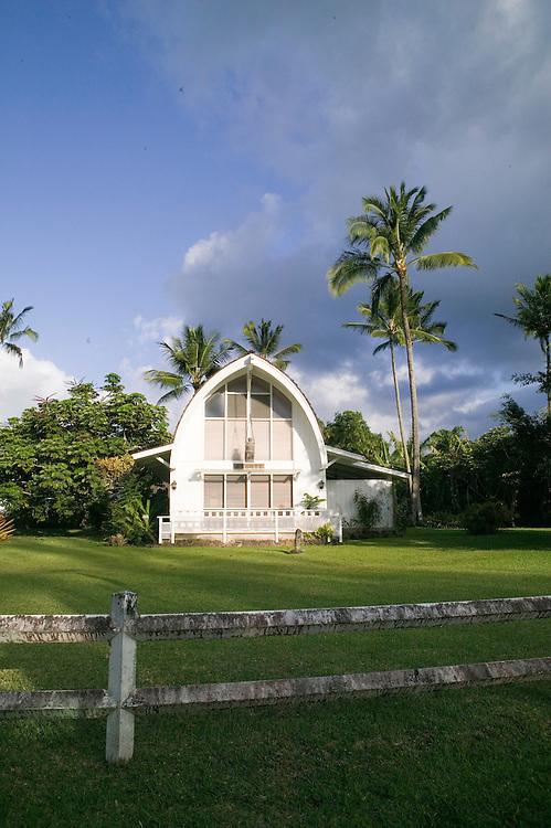 A charming church in Hanalei Village, Kauai, Hawaii