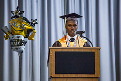 Valedictorian Kenique Liburd.  St. Thomas/St. John Seventh Day Adventist School Commencement Service.  Bertha C. Boschulte Auditorium.  St. Thomas, USVI.  12 June 2016.  © Aisha-Zakiya Boyd