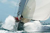Seiling. Volvo Ocean Race 2001/2002. Sjette etappe fra Miami til Baltimore. 14.04.2002.<br /> Amer Sports Too. Skipper Lisa McDonald fra USA.<br /> Foto: Daniel Forster, Digitalsport
