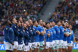 November 24, 2018 - Rome, Rome, Italy - Italy Team during the Test Match 2018 between Italy and New Zealand at Stadio Olimpico on November 24, 2018 in Rome, Italy. (Credit Image: © Emmanuele Ciancaglini/NurPhoto via ZUMA Press)