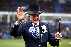 Peterborough United mascot Mr Posh, Mick Jones prior to the match