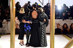 Elizabeth Banks, Naomi Scott, Ella Balinska and Kristen Stewart (left-right) attending the Charlie's Angels UK Premiere at the Curzon Mayfair, London.