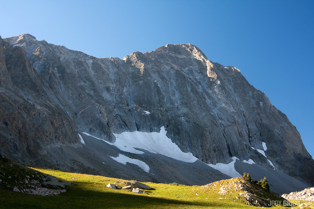 Capitol Peak 14,130ft viewed from a backcountry campsite, Elk Range, Colorado.