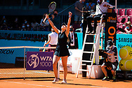 Paula Badosa of Spain celebrates after winning her quarter final match at the Mutua Madrid Open 2021, Masters 1000 tennis tournament on May 5, 2021 at La Caja Magica in Madrid, Spain - Photo Rob Prange / Spain ProSportsImages / DPPI / ProSportsImages / DPPI