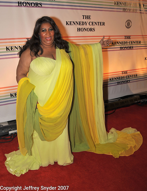 Aretha Franklin arriving at The 30th Kennedy Center Honors, in Washington, DC , December 2, 2007.  The 2007 honorees are pianist Leon Fleisher, actor Steve Martin, Ross, film director Martin Scorsese and musician Brian Wilson.