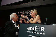 Benny Bertina and Sharon Stone, Amfar's Inaugural Cinema Against Aids. Spazio Etoile. Rome. 26 October 2007. SUPPLIED FOR ONE-TIME USE ONLY> DO NOT ARCHIVE. © Copyright Photograph by Dafydd Jones . 248 Clapham Rd. London SW9 0PZ. 0208 820 0771.  www.dafjones.com