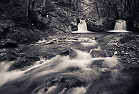 spring runoff on Hancock Brook in the Green Mountains of northern (Worcester) Vermont