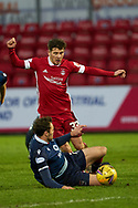 Mathew Kennedy attack is halted during the Scottish Premiership match between Ross County FC and Aberdeen FC at the Global Energy Stadium, Dingwall, Scotland on 16 January 2021.
