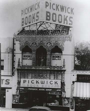 1949 Pickwick Book Store at 6743 Hollywood Blvd.