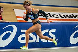 Lieke Klaver in action on the 400 meter during AA Drink Dutch Athletics Championship Indoor on 21 February 2021 in Apeldoorn.