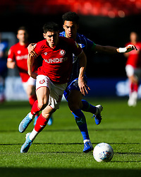 Callum O'Dowda of Bristol City is challenged by Antonee Robinson of Wigan Athletic - Rogan/JMP - 27/10/2019 - Ashton Gate Stadium - Bristol, England - Bristol City v Wigan Athletic - Sky Bet Championship.