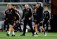 Fotball, 21. august 2018 , OBOSligaen , 1. divisjon , Mjøndalen - Åsane 1-1<br /> <br /> trener Vegard Hansen, MIF<br /> trener Mons Ivar Mjelde , Åsane
