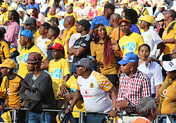 Kaizer Chiefs supporters fans in the MTN8 semi-final first leg match between Cape Town City and Bidvest Wits at the Cape Town Stadium on Sunday 27 August 2017.