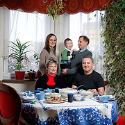 Rafal 35,  Ania 29,  Tomek 3½,  Elzbieta 59,  Jacek 61<br /> <br /> Lublin, average income, higher education <br /> <br /> Elzbieta is a pensioner. She used to work as a food engineer in a frozen food factory and now she is a coordinator in the multigenerational club for volunteers in Lublin. <br /> Jacek is a pensioner too. He was a food engineer, director of a milk company.<br /> Ania is an academic teacher in the economy and management faculty of the agricultural university of Lublin and she does a research on the dairy industry in Lubelski region. <br /> Rafal is a prosecutor. <br /> Tomek goes to kindergarten. <br /> <br /> Almost every second Sunday Rafal, Ania and Tomek come for the Sunday lunch. The Sunday lunch with all the family is very important for us because we are all together and we celebrate that with a delicious meal. We all work hard during the week, me and my husband on the charity and our kids on their jobs, so on Sunday we can relax, we have fun, we spend time together and we chat to our lovely grandson. The atmosphere is special. On Christmas and other holidays all the family eats together; we have a big party.