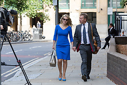 August 15, 2017 - London, London, UK - LONDON, UK.  CRAIG MACKINLAY, Conservative MP for South Thanet.with his wife, Kati arrive at Southwark Crown Court for a Plea and Trial Preparation Hearing (PTPH). CRAIG MACKINLAY, Conservative MP for South Thanet, MARION LITTLE, Craig Mackinlay's campaign director and NATHAN GRAY, Craig Mackinlay's election agent have each been charged with offences under the Representation of the People Act 1983. (Credit Image: © Vickie Flores/London News Pictures via ZUMA Wire)