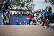 #1 (VAN GENDT Twan) NED and #120 (PELLUARD Vincent) COL during practice at Round 9 of the 2019 UCI BMX Supercross World Cup in Santiago del Estero, Argentina
